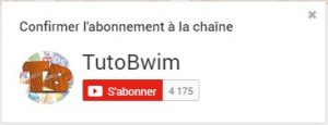 Lien dabonnement youtube